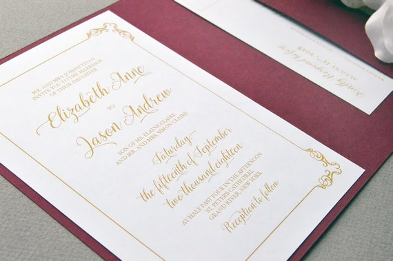 Century Card Wedding Invitation - Bandung