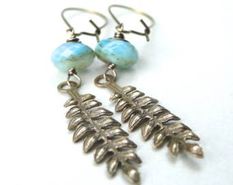Gemstone Earrings / Blue Amazonite Gemstone Jewelry / Gift for Her / Graduation Gift / Earrings / Dangle Earrings / Chic Earrings