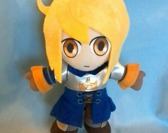 Agrias Oaks Final Fantasy Tactics plush handsewn OOAK