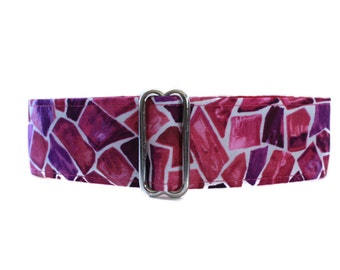 1.5 Inch Martingale Collar, Pink Martingale Collar, Purple Martingale Collar, Pink Dog Collar, Made in Canada, Whippet Collar