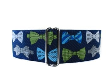 2 Inch Martingale Collar, Bow Tie Martingale Collar, Bow Tie Dog Collar, Side Release Dog Collar, Greyhound Collar, Sighthound Collar