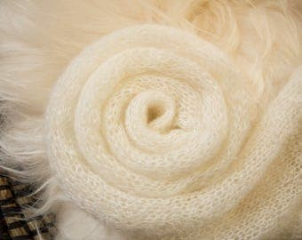 Knitted wrap - Cream