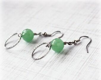 50% OFF SALE Seafoam Earrings, Glass Bead Earrings, Drop Earrings, Boho Earrings, Traditional Earrings, Elegant Earrings