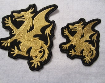 Embroidered Winged Iron On Dragon Patch, Iron On Patch, Dragon Patch, Dragon Applique, ragon Iron On Patch, Dragon Decal