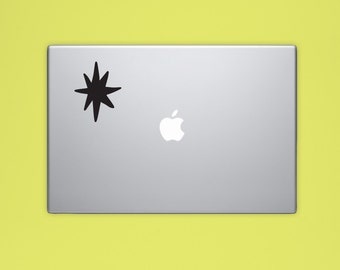 New! - Star VINYL Decal, Illustrated Space Decal, Computer Decal, Vinyl Sticker