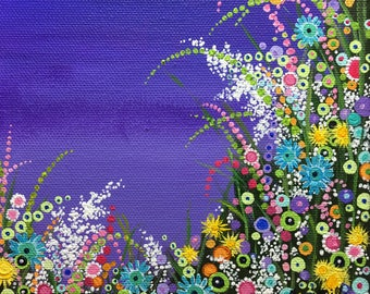 Contemporary Art. Garden art. Floral Art. Colorful paintings. psychedelic art. flower painting. flower power. Modern art. Modern floral art