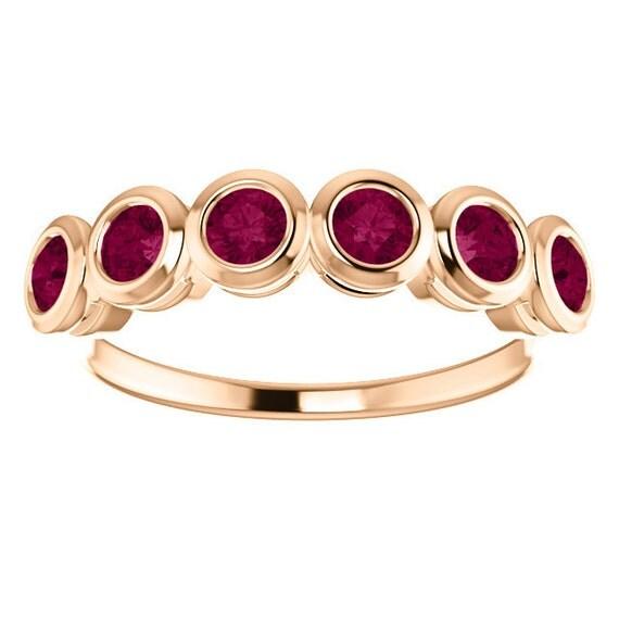 Anthill Garnet Anniversary Band Rose Gold Fair Trade Gemstones