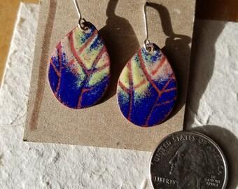 Dream-scape leaf earrings