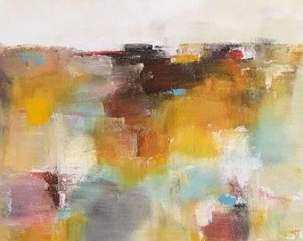 Abstract Landscape Painting -Landscape Golds 12 x 16