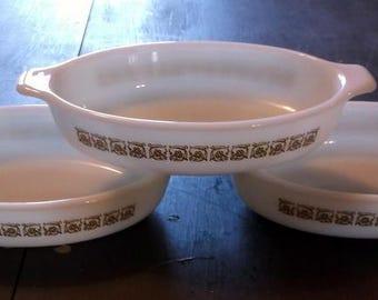 Vintage Rare Pyrex Pixie Tiburon Pattern Tableware Bowl