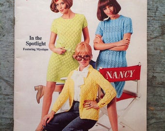 Vintage 1969 Spinnerin Yarn Knitting Pattern Book Volume 193
