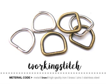 20pcs 17.4mm D-ring FOB Purse Hardware Finding for Purse Ring, Clasps Hook Ring