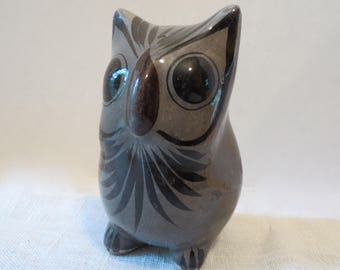 """Wise Old Owl ~ Hand Painted in Mexico ~ 4.75""""H"""