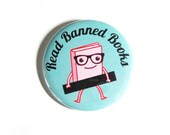 Banned Books Pinback Buttons Cute Accessories Librarian Geeky Bookworm
