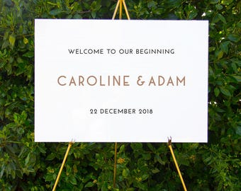 Modern simple welcome sign | Printable wedding signage