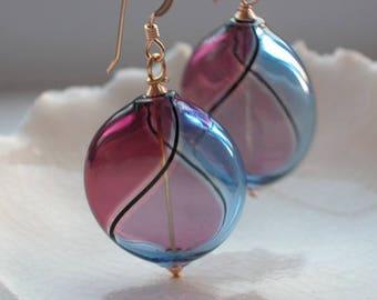 Murano Blown Glass Earrings