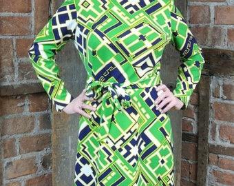 On Sale 1960s Mod Dress. Abstract Go-Go . Sheath Dress. Me Shy...NO
