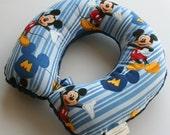 Child Travel Neck Pillow - Mickey (w/ Navy Blue Minky)