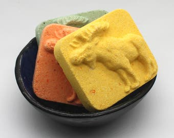 READY TO SHIP - Moose Bath Bomb -  immediate shipping, bath fizzy, bath fizzies, party favor, for men, for guys, north american animals