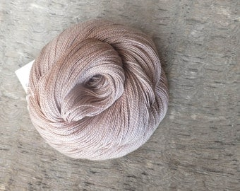 Naturally Dyed with Sumac - Hand Dyed Silk Lace Yarn