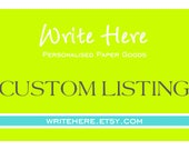 Custom Listing for Lisa O'Bree - please do not order if this is not you - thank you