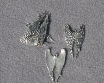 Angel Wing Charms Pack of 3