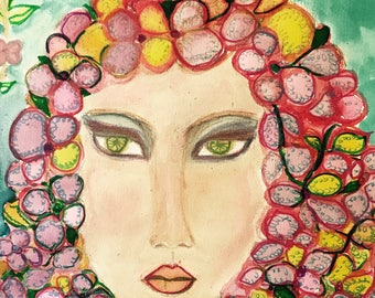 One of its kind art the  flower  girl