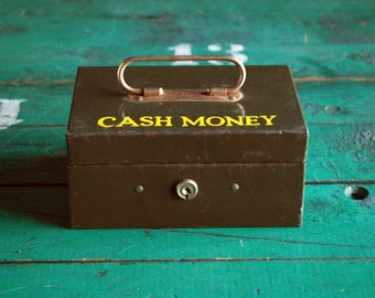 Locking Metal Box, Cash Money Box
