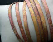 Brass Bangle Set of 7 Open Cuff Bracelets in Hammered Raw Brass and Patina Finish