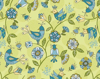 Riley Blake Designs Dutch Treat Dutch Main Green Fabric  - 1 yard
