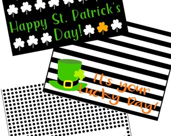 Set of St Patrick's Day Treat Bag Toppers PDF Instant Download Files