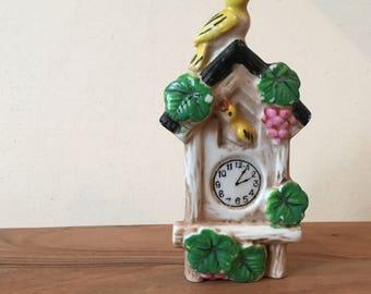 Vintage Ceramic Japanese Cuckoo Clock Ornament