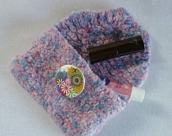 Felted Wool Lipstick Coin ticket Purse