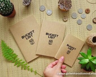 Bucket List Journal - In 3 Sizes - Traveler's Journal For Your Inspiration