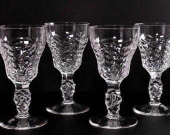 Royal Leerdam Crystal Stemware 4 Crystal Cordial Glasses Liqueur Glasses