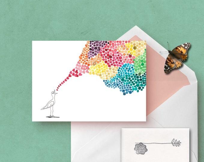 Singing Love Bird Greeting Card