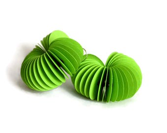 Greenery: Dangle Earrings CARTA made of paper