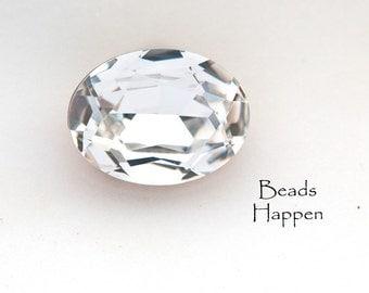 20x15mm Oval Swarovski Clear Crystal Jewel Stone, Article 4140 Oval, Quantity 1