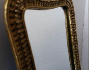 Brass Wall Mirror Shelf display candle holder