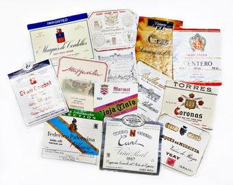 12 Vintage Spanish Wine Labels