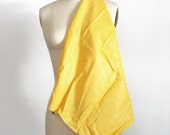 Yellow linen fabric quilting fabric yellow shimmer linen lemon yellow sunshine bright linen with shimmer small pieces 1/4 yard material