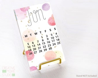 2017 Desk Calendar - Cute Desk Accessory - Office Gift - Calendar - Cute Calendar - Gift under 25 - Cute Desk Decor - Mini Calendar - Cute