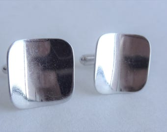 Uniquely Thin Sterling Silver Cuff Links