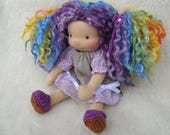 RESERVED for pomegranate27  - Sitting style Waldorf Inspired Doll ,8 inch