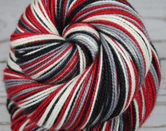 FALCONS: Superwash Merino/Nylon - Self-striping Sock Yarn - Hand dyed sock yarn - NFL inspired yarn - Football team yarn - Superbowl 51 LI