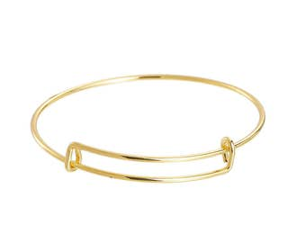 1 Gold Plated Expandable Bracelet 6.5 cm for DIY Jewelry Making