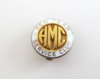AMC 1/10 10K Gold Lapel Pin - Ten Year Service Club