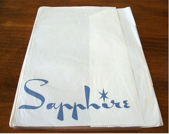Vintage Pair Sapphire Light Taupe Nylon Stockings Size 9.5 by Sapphire