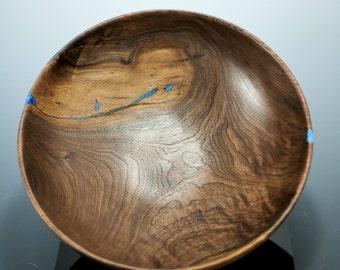 Wooden Bowl Hand Made Server, Walnut Wood Salad Bowl, B2743