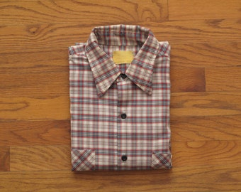 vintage Sears plaid short sleeve shirt